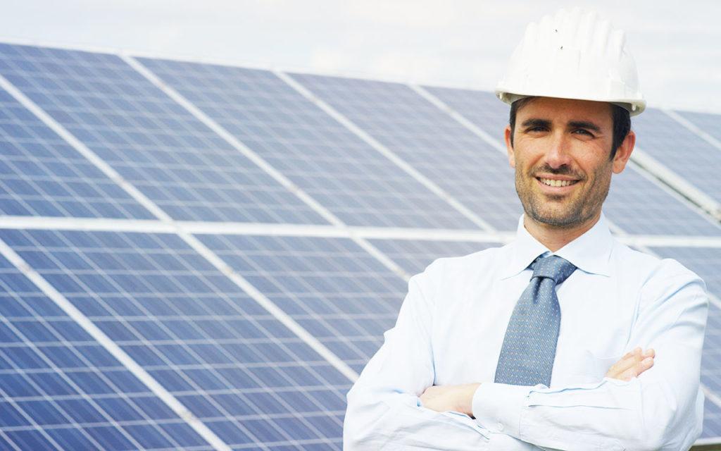 Solpaneler för industri